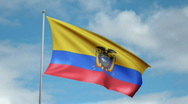 Stock Video Footage of Flag of Ecuador