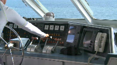 Yacht Captain (3 of 3) Stock Footage