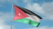 Stock Video Footage of Flag of Jordan