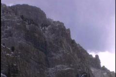 Snow drifts on cliffs Stock Footage