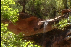 Waterfall in Zions 2 Stock Footage
