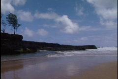 Sandy area near beach Stock Footage