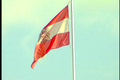 Vienna Flag 1 Stock Footage