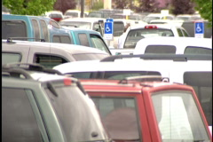 Cars in parking lot Stock Footage