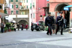 Italian Police Walk Stock Footage