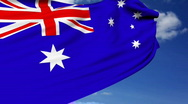 Stock Video Footage of Australian flag