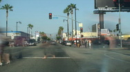 Hollywood Blvd, Sunset Blvd, Beverly Hills Series Stock Footage