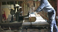 Old sawmill Stock Footage