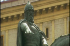 Russian statue 2 Stock Footage
