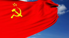 Soviet union flag - stock footage