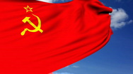 Stock Video Footage of Soviet union flag