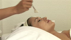 HD1080i Beautiful blonde girl has treatment in spa Stock Footage