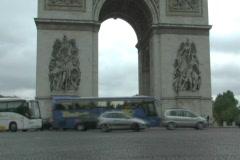 Arc de Triumph Traffic 2 Stock Footage