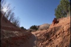 Jeep in dirt ditch Stock Footage