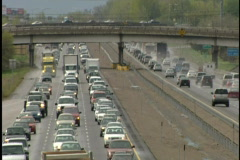 Busy city highways - stock footage