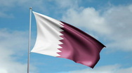 Stock Video Footage of Flag of Qatar