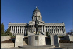 SLC Capitol Building 4 Stock Footage