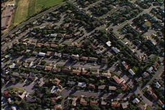 Aerial over homes 2 Stock Footage