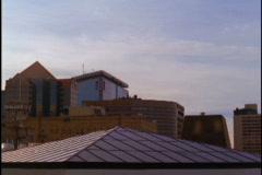 Tops of buildings 1 Stock Footage