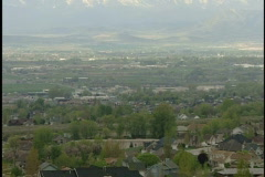 Utah valley and mountains - stock footage