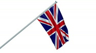 Stock Video Footage of British flag - Union Jack