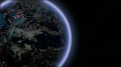Earth intro Stock Footage