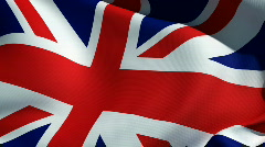 British flag - Union Jack Stock Footage