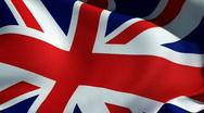 British flag - Union Jack Stock Footage