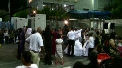 Dancing during Arab wedding Stock Footage