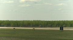 Military, F16 Falcon fighter jet landing, follow shot, #2 Stock Footage