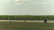 Stock Video Footage of military, F16 Falcon fighter jet landing, follow shot, #2