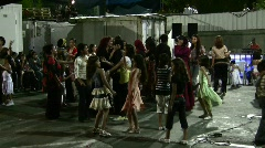Females dance during Arab wedding Stock Footage