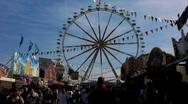 Carnival nostalgic ferris wheel Stock Footage
