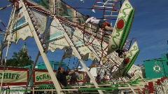 Carnival nostalgic swing swinging Stock Footage