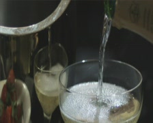 Pour champagne sd 2 a Stock Footage