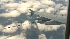 Military, aerial refueller hose deployed pod Stock Footage