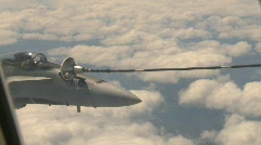 military aerial, F18 Hornet fighter jet in flight refueling, #2 - stock footage