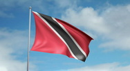Flag of Trinidad and Tobago Stock Footage