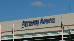 Amway Arena in Orlando - stock footage