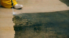 Pressure cleaning - stock footage