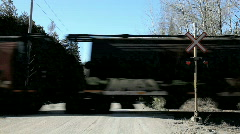 Stock Video Footage of Countryside railroad crossing