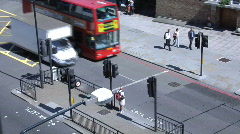 red london bus top view - stock footage