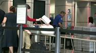 Security Gate Metal Detector Stock Footage