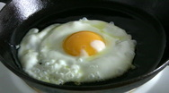 Stock Video Footage of Fried egg