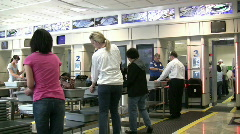 Metal Detectors at Dayton Airport - stock footage