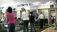 Stock Video Footage of Metal Detectors at Dayton Airport