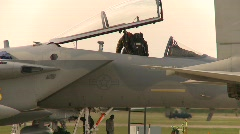 Military, F15 Eagle fighter jet Stock Footage