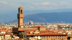florence italy tourists landmark city urban monuments historic - stock footage