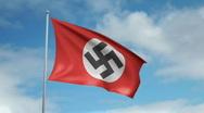 Flag of Nazi Germany Stock Footage