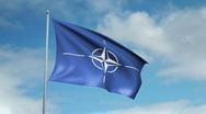 Flag of NATO Stock Footage
